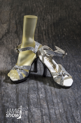 JAMIEshow Silver Strap Shoes