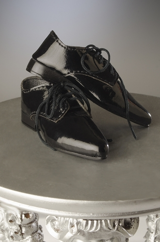 JAMIEshow Mens Black Patent Leather Dress Shoe