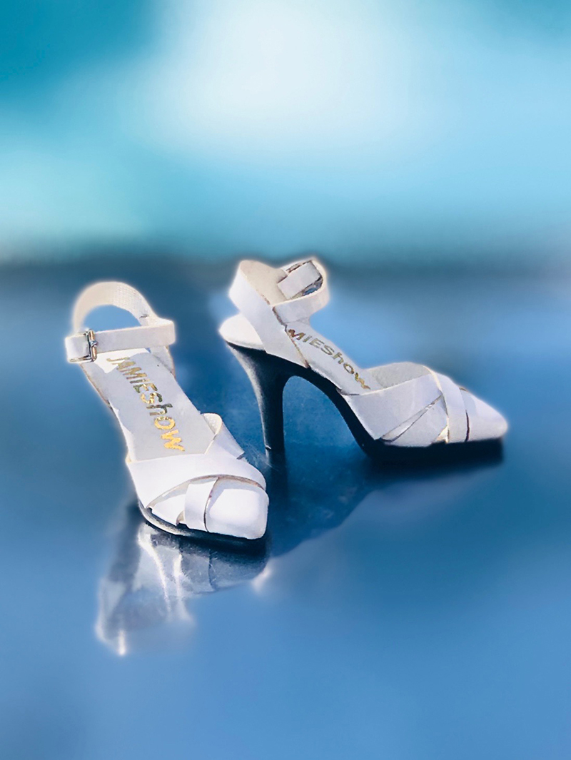 White Strap High Heel Shoes