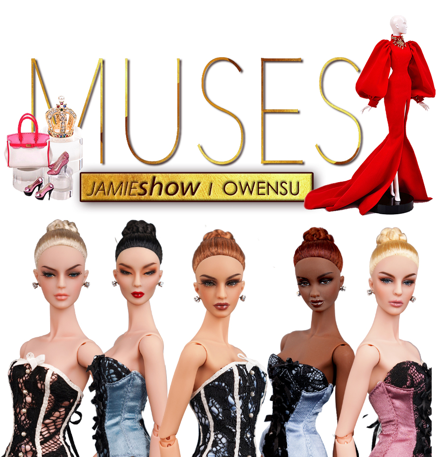 "JAMIEshow Muses by OWENSU 12"" Fashion Ball JOINTED Dolls"