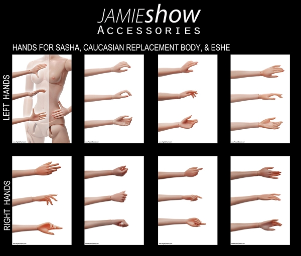 REPLACEMENT JAMIESHOW HANDS
