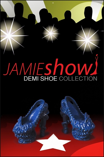 JAMIEshow Demi Collection Gaga Shoe Cobalt for 12