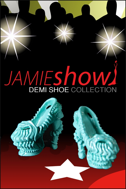 JAMIEshow Demi Collection Gaga Shoe Turquoise for 12