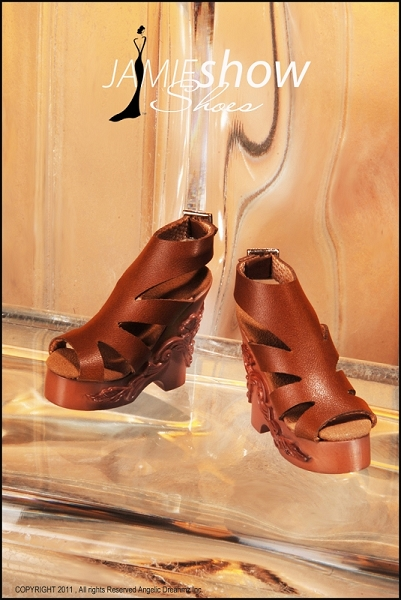 JAMIEshow Brown Leather Wedge