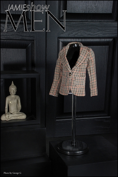 JAMIEshow Men Plaid Jacket