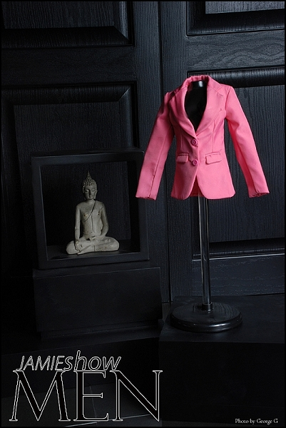 JAMIEshow Men Pink Jacket