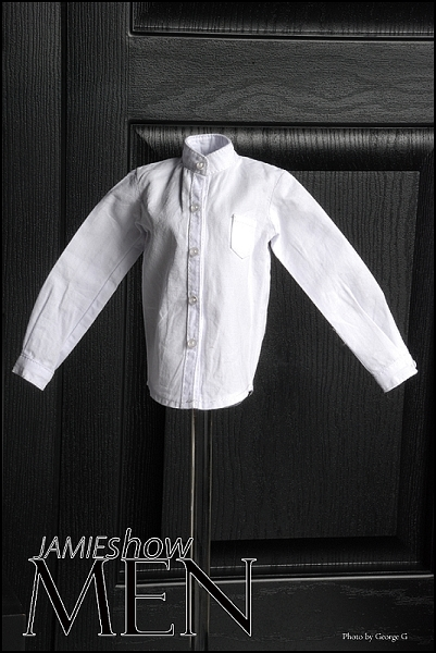 JAMIEshow Men White Neru Collar Shirt