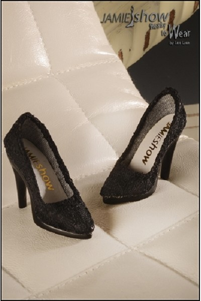JAMIEshow Black Lace Pump