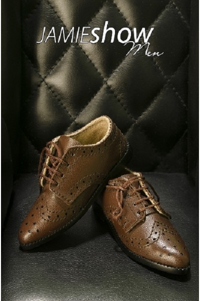 JAMIEshow Men's  Brown Oxford Shoes