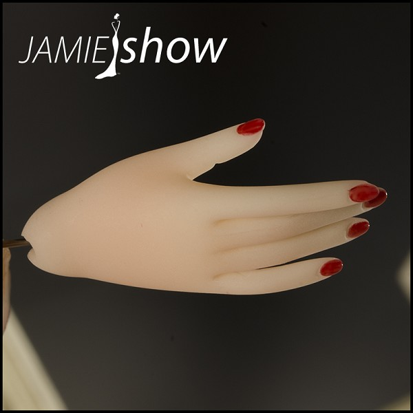 Right Hand with Red Nail for Jamie, Ruyi, Mayumi, Sun, Grace,  Gene, Didi, Marlena or Edie  Style R1-Red