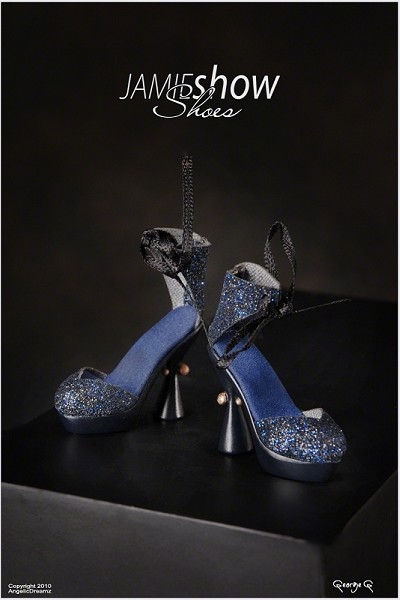 "JAMIEshow Shoe Collection Blue Rivet Heel Shoe (For 16"" Dolls)"
