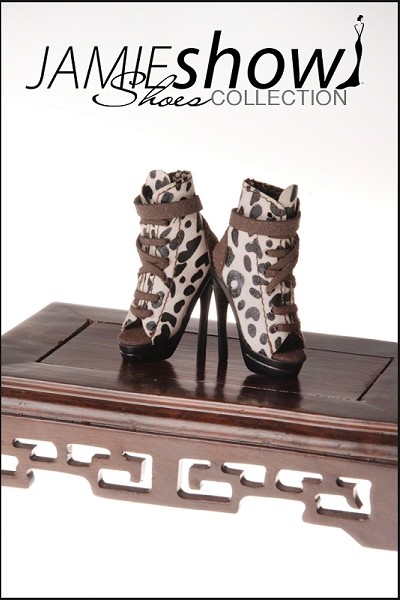 JAMIEshow Shoes Animal Print Suede Bootie Ocelot