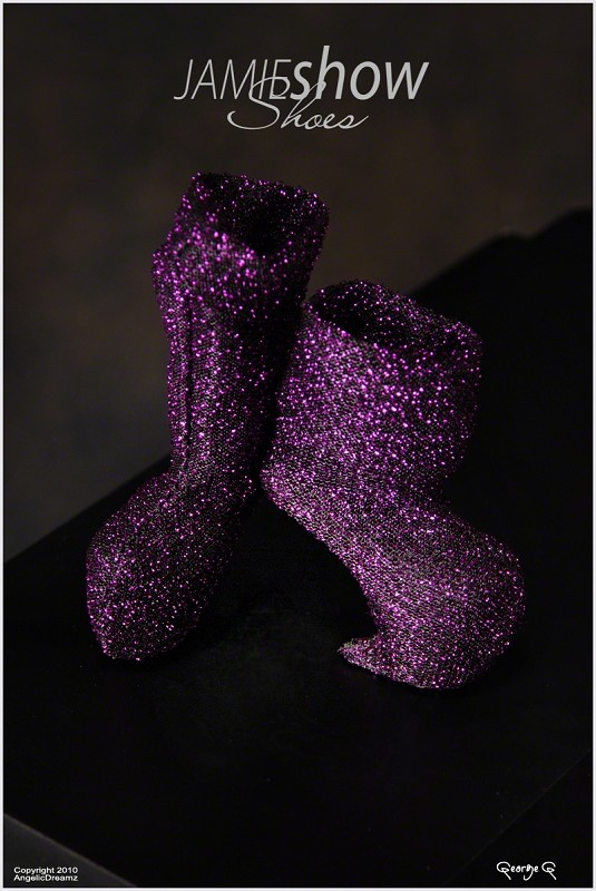 JAMIEshow Shoe Collection Purple Claw No Heel Shoes