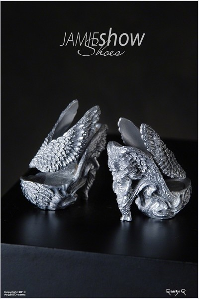JAMIEshow Shoe Collection Silver Angel Wing Shoes