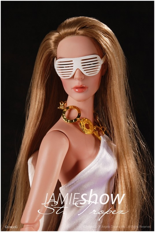 "JAMIEshow St. Tropez Collection White Zephyr Sunglasses for 16"" Doll"