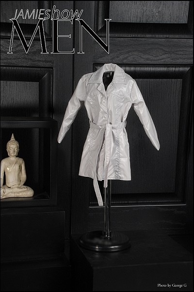 JAMIEshow Men Light Grey Trench Coat